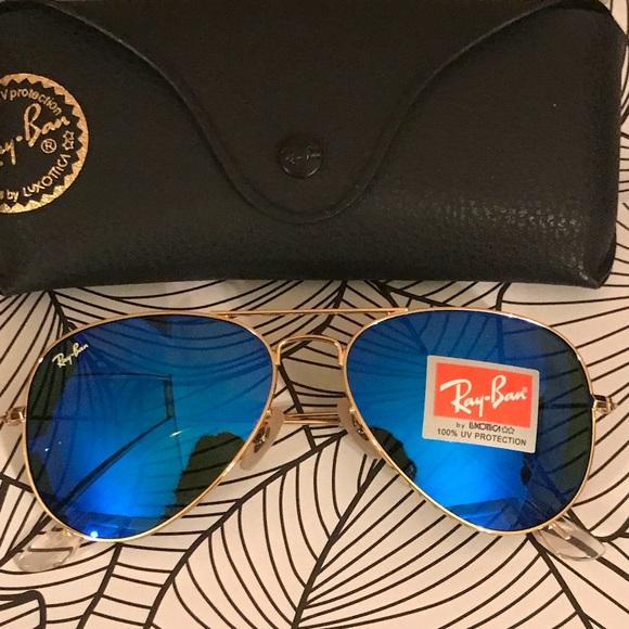 256fb47de8 Dark blue rayban aviator sunglasses size 62